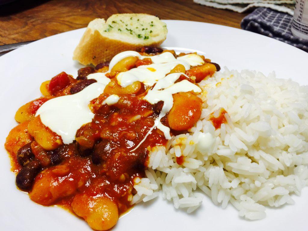 Bean chilli at The Peloton