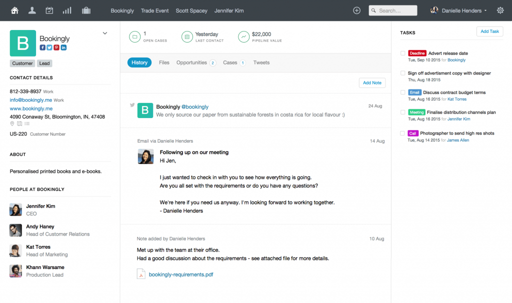 Capsule Crm An Add On For Xero The Peloton
