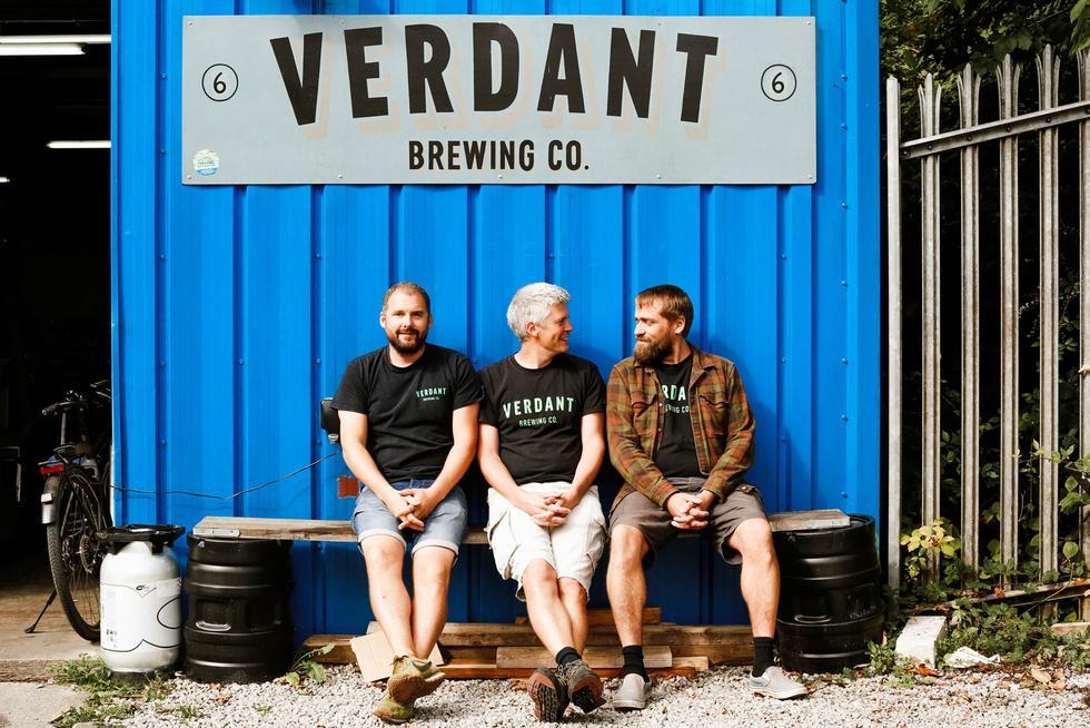 verdant brewery guys sitting