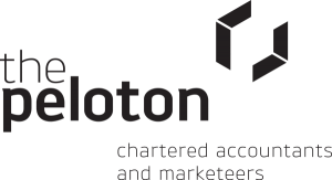The Peloton - Chartered Accountants & Marketeers logo black